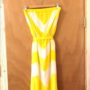 Bebe maxi dress with pockets